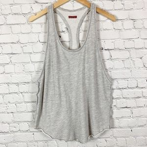 Hard Tail Forever Terry Cloth Grey Active Tank Top